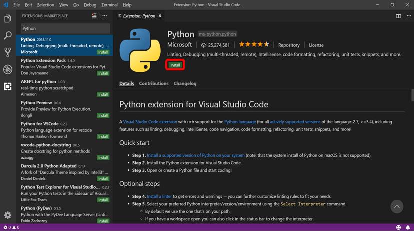 VSCodeでPython3を使用するための設定方法